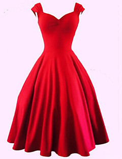 Women's Vintage/Plus Sizes 1950's Prom VTG Retro Rockabilly Hepburn Pinup Cos Party Swing Dress