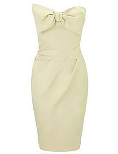 Sukienka - Obuwie damskie - Kokarda - Przed kolano - Bez rękawów - Bez ramiączek