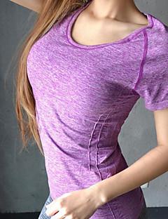 Mulheres Corrida Camiseta / Pulôver Ioga / Pilates / Acampar e Caminhar / Fitness / Corridas Respirável / CompressãoVerde / Rosa /