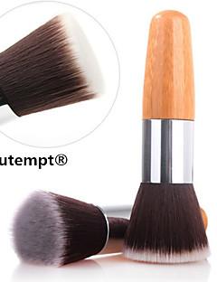 1PCS Exquisite Natural Bamboo Handle Foundation Brush for Powder/Makeup Base Primer/Foundation