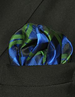 UH19 Shlax&Wing Pocket Square Checkes Green Blue Hankies Hanky Fashion Plaids