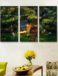 Tier / Landschaft Leinwand drucken Drei Paneele Fertig zum Aufhängen , Vertikal