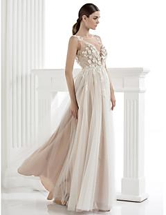 TS 패션 공식 이브닝 드레스 - 라인 / 공주 특종 바닥 길이 얇은 명주 그물