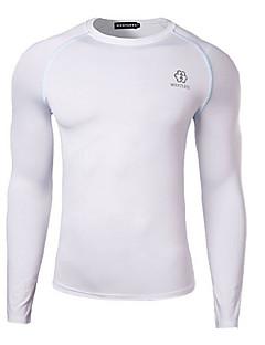 Ademend/Sneldrogend - Heren - Fietsen - T-shirt ( Wit/Zwart ) - Lange Mouw Herfst Rekbaar M/L/Xl/Xxl