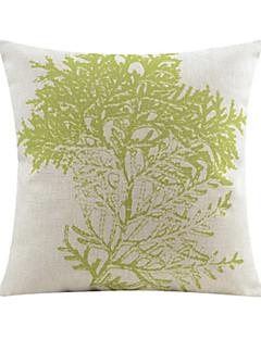 lövmönster sommar bomull / linne dekorativa kuddöverdrag