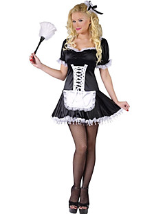 Pretty Sleeveless & Bow PU Maid Uniforms