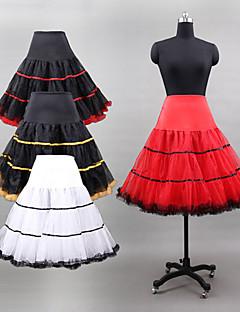 תחתונית  סליפ שמלת נשף באורך ברך 3 רשתות בד טול/פוליאסטר/לייקרה לבן/שחור/אדום/צהוב/חום
