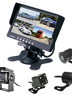 RenEPai® 7 Inch 4 in 1 HD Monitor +BUS 170°HD Car Rear View Camera Waterproof Camera Cable length 6M, 10M, 16M, 20M,
