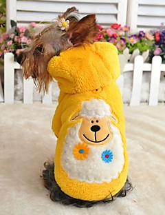 Cat / Dog Hoodie / Pajamas Red / Yellow / Green / Blue / Purple Dog Clothes Winter / Spring/Fall Cartoon Cute / Casual/Daily