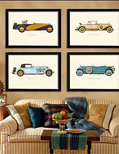 automóviles imágenes sala drawning marco marcos marco de madera con la lona con vidrio plástico 4piece / set orgánica