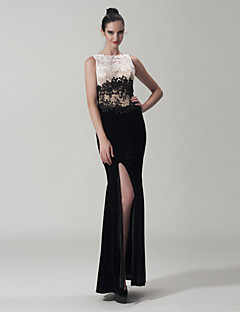 Dress Trumpet/Mermaid Jewel Floor-length Lace/Velvet Dress