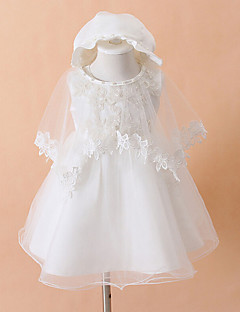 Hat+Clothing+Wedding shawls  3P Ball Gown Knee-length Baby Flower Girl Dress - Cotton/Tulle/Polyester Sleeveless