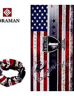 KORAMAN Summer Stars and Stripes Eagle Flag Cycling Four Seasons Sun-Proof Magic Scarf Headband