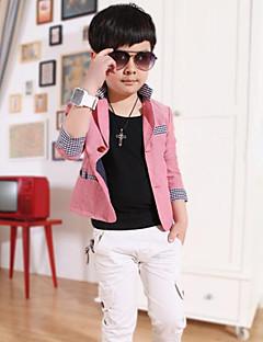 Boy's Cotton Medium Cotton Blend Leisure  Long Sleeve Suit