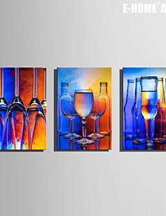 Vida Imóvel Impressão em tela 3 Painéis Pronto para pendurar , Vertical