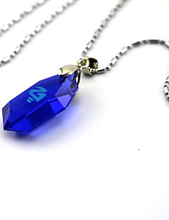 League of Legends pedras preciosas jóias artificial pedra catalítica colar de cristal azul