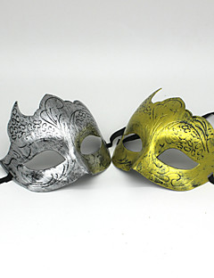 Halloween Props Fairytale Festival/Holiday Halloween Costumes Golden Silver Solid Mask Halloween Christmas Carnival New Year Unisex