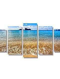 5 Panels  Beach Picture Canvas Print Seascape Picture Wall Art Decoration Unframed