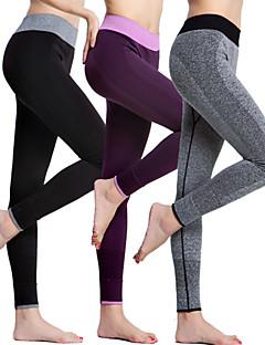 kvinders yoga bunde strømpebukser hurtig tør / komprimering / letvægtsmaterialer yoga s / m
