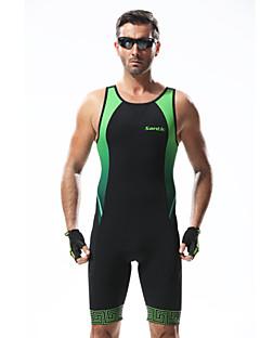 SANTIC Kombinéza Pánské Jezdit na kole triatlon Prodyšné Antistatický Redukuje pot 3D Pad 100% polyester PatchworkVolnočasové sporty
