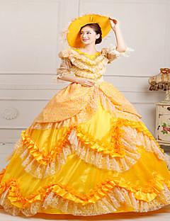 steampunk®classic 18 ° secolo Maria Antonietta abito ispirato vestito giallo vittoriano vestito del partito di Halloween