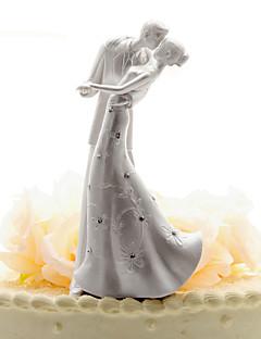 Tortenfiguren & Dekoration Nicht-personalisierte Klassisches Paar Chrom Hochzeit / Jubliläum Weiß Klassisches Thema OPP