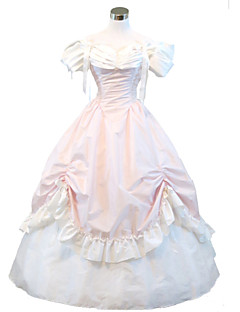 Gothic Pink Civil War Southern Belle Lolita Ball Gown Dress  Halloween Party costume
