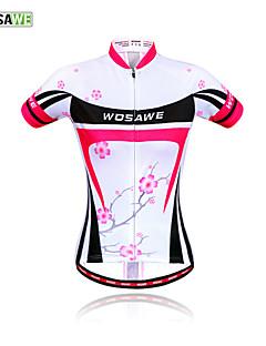 WOSAWE Outdoor Sportswear Women Cycling Jersey Plum flower-New Bicycle Short-Sleeved