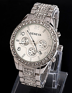 Dámské Hodinky k šatům Náramkové hodinky Křemenný imitace Diamond Slitina Kapela Třpyt Stříbro Zlatá Stříbrná Zlatá Růžové zlato