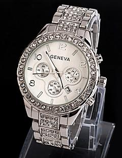 Damen Kleideruhr Armbanduhr Quartz Imitation Diamant Legierung Band Glanz Silber Gold Silber Golden Rotgold