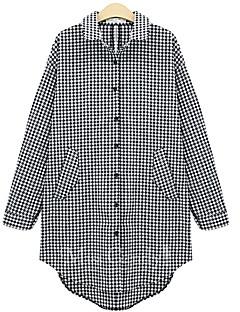 Damen Hemd Baumwolle Langarm Hemdkragen