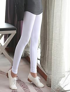 kvinnor danar hög elastisk neon ren färg leggings