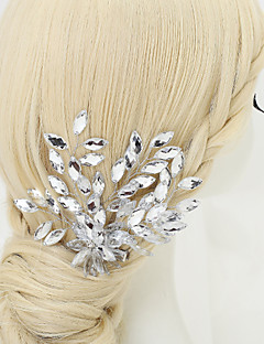 Women's Flower Girl's Rhinestone Crystal Alloy Headpiece-Wedding Special Occasion Hair Combs 1 Piece