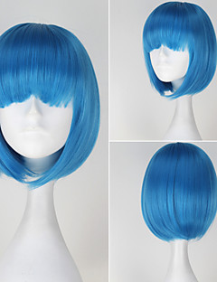 Magical Angel Creamy Mami Girl's Short Straight Blue Color Anime Cosplay Full Wig