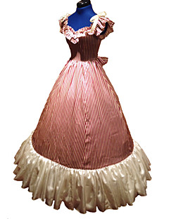 Gothic Pink Civil War Southern Belle  Ball Gown Dress  Halloween Party Dress