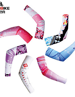 Arm Warmers Bike Breathable / Quick Dry / Ultraviolet Resistant / High Breathability (>15,001g) / Sunscreen Women's White Spandex