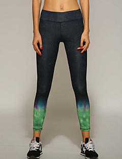Yoga Pants Bunner / Bukser / Sykling Tights / Leggings Pustende / Fort Tørring / wicking / Komprimering / Lettvektsmateriale NaturligHøy