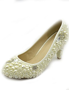 Women's Shoes Pearl Pumps Crystals Pumps/Heels Wedding/Office & Career/Dress White