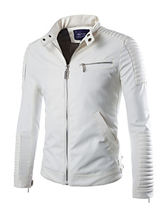 Men PU / Faux Leather Top , Belt Not Included