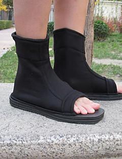 Sapatos de Cosplay Naruto Fantasias Anime Sapatos de Cosplay Preto / Azul Poliéster Unissexo