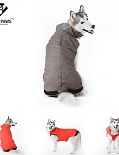 Dog Coat Red / Blue Dog Clothes Winter Solid Cosplay