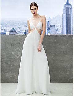 ts couture® formales Abendkleid Mantel / Spalte Spaghetti-Trägern bodenlangen Chiffon mit