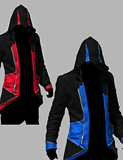 Inspired by Assassin's Creed Conner Anime Cosplay Costumes Cosplay Hoodies Patchwork / Print Red / Blue Long Sleeve Top