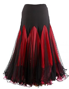 Ballroom Dance Dresses&Skirts Women's Performance Chiffon Milk Fiber Draped 1 Piece Skirt 90