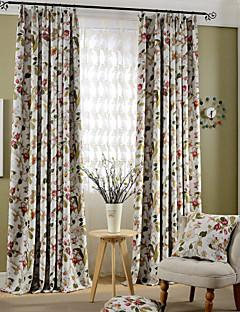 İki Panel Pencere Tedavi Ülke Modern Neoklasik Akdeniz Avrupa Oturma Odası Polyester Malzeme Blackout Perdeler Perdeler Ev dekorasyonuFor