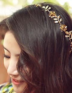 Women Ladies Golden Leaf Flower Hair Band Hair Accessories Jewelry