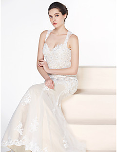 Lan Ting - Trumpet/Mermaid Wedding Dress - Ivory Court Train Sweetheart Tulle