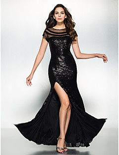 TS Couture Formal Evening Dress - Sparkle & Shine Trumpet / Mermaid Scoop Floor-length Sequined with Sequins
