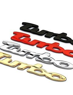 TURBO Decoration 3D Car Styling Car Sticker Car Tail Decor Emblems High Quality Stickers