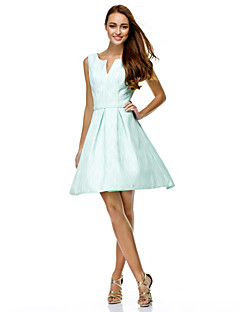 Cocktail Party / Company Party / Family Gathering Dress A-line V-neck Knee-length Polyester